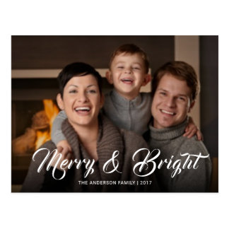 Merry and Bright Festive Holiday Event Invite Postcard