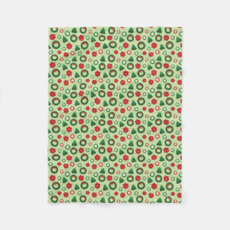 Merry and Bright fleece blanket