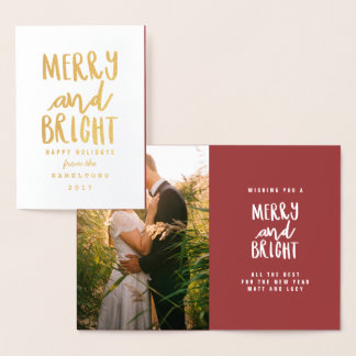MERRY AND BRIGHT FOIL CARD