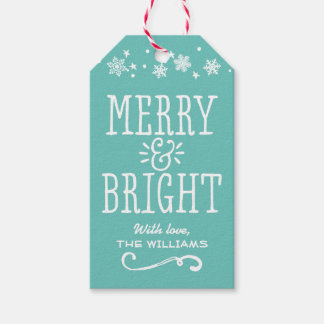 Merry and Bright Gift Tags | Personalized Design Pack Of Gift Tags
