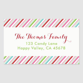 Merry and Bright Holiday Address Label