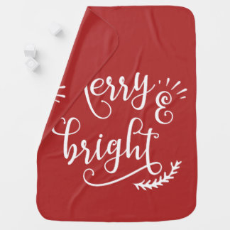 merry and bright Holiday Baby Blanket
