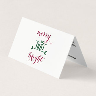 Merry and Bright  - Holiday Car Card