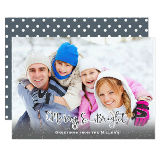 Merry and Bright! Holiday Card with snow