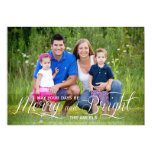 "Merry and Bright | Holiday Photo Card 5"" X 7"" Invitation Card"