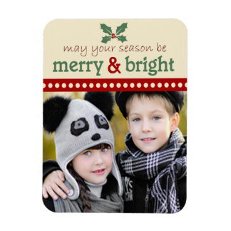 Merry and Bright Holiday Photo Flexi Magnet
