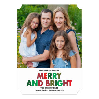Merry and Bright Holiday Wishes Card
