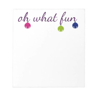Merry and Bright jingle bells design Notepad