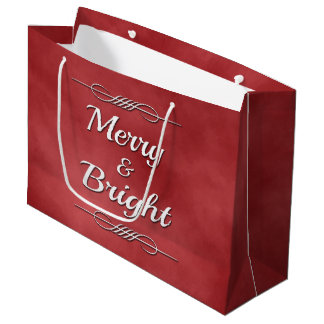 Merry and Bright Large Gift Bag