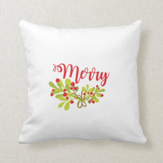 Merry And Bright Merry Holiday Throw Pillow