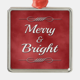 Merry and Bright Metal Ornament