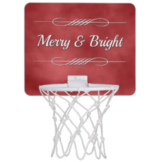 Merry and Bright Mini Basketball Hoop