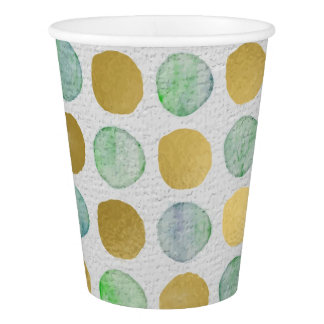 Merry and Bright Modern Dots Christmas Paper Cup