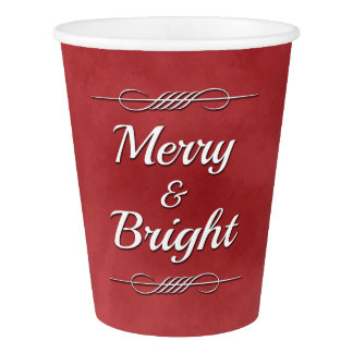 Merry and Bright Paper Cup