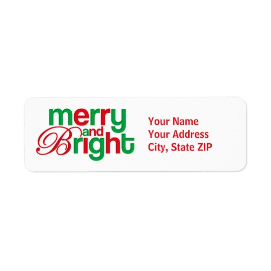 Merry And Bright Personalized