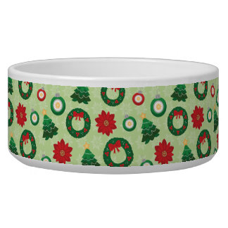 Merry and Bright pet bowl