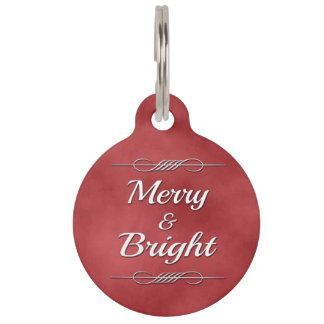 Merry and Bright Pet ID Tag