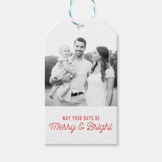 Merry and Bright Photo Gift Tag