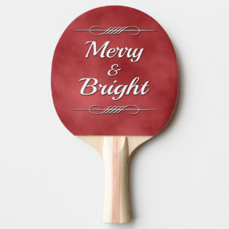 Merry and Bright Ping Pong Paddle