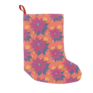 Merry and Bright Poinsettia Stocking