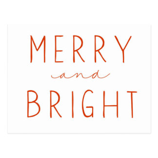 Merry and Bright | Postcard | Red