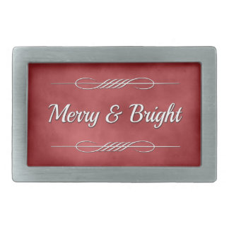 Merry and Bright Rectangular Belt Buckle