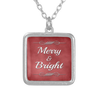Merry and Bright Silver Plated Necklace