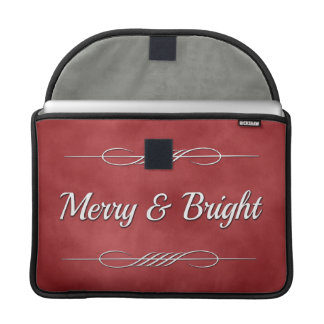 Merry and Bright Sleeve For MacBooks