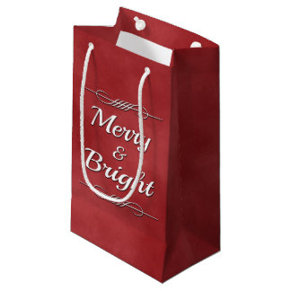 Merry and Bright Small Gift Bag