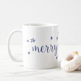Merry and Bright Stars Holiday Coffee Mug
