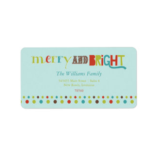 Merry and Bright (Today's Best Award) Label