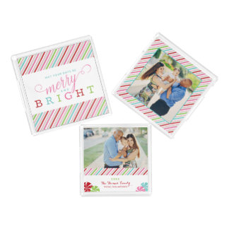 Merry and Bright Tray Collection, stripes & candy