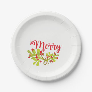 Merry And Ivy Holiday Party Paper Plates