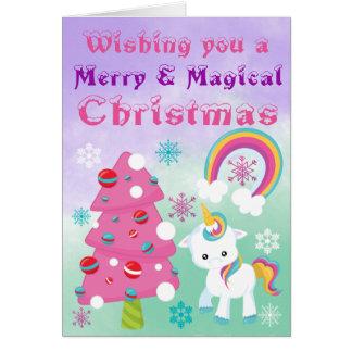Merry and Magical Unicorn Christmas Card