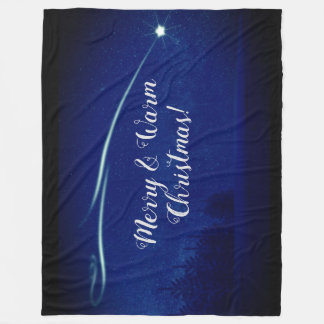 Merry and warm Christmas fleece blanket