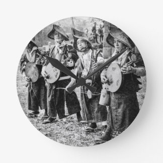 Merry Band of Musicians in Old Japan Vintage Music Clocks