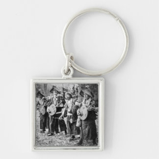 Merry Band of Musicians in Old Japan Vintage Music Keychain