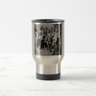 Merry Band of Musicians in Old Japan Vintage Music Travel Mug