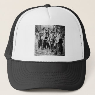 Merry Band of Musicians in Old Japan Vintage Music Trucker Hat