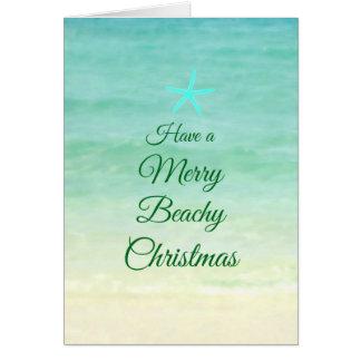 Merry Beach Christmas Starfish Card