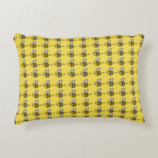 Merry Bees | Cartoons animals Accent Pillow