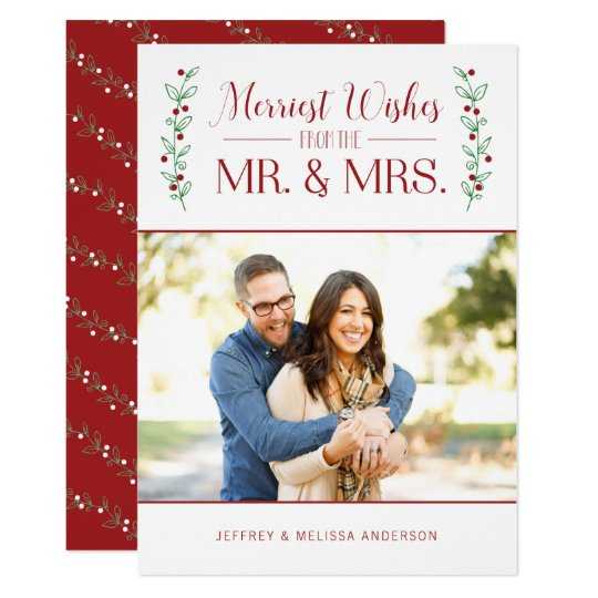 Merry Berries | Newlywed Christmas Photo Card