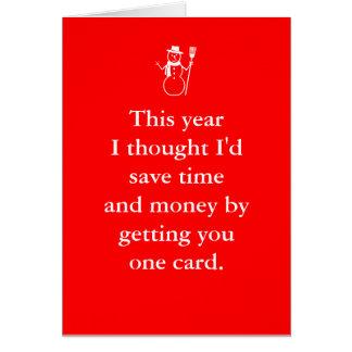 Merry Birthmas December Christmas Birthday Card