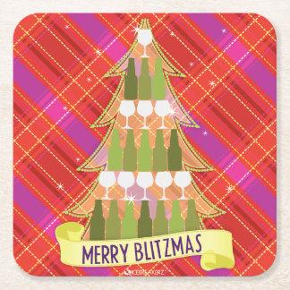 MERRY BLITZMAS FUNNY CHRISTMAS COASTERS