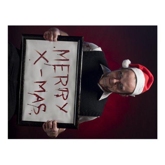 Merry Bloody Xmas Postcard