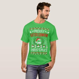 Merry Bluetick Coonhound Dog Christmas Ugly Tshirt