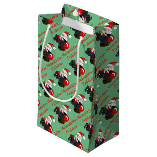 Merry Bouvier Christmas Small Gift Bag