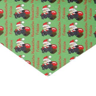 Merry Bouvier Christmas Tissue Paper