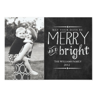 Merry & Bright Chalkboard Card