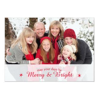 Merry & Bright Custom Family Photo Christmas card